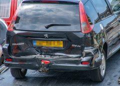 Auto's botsen op Verlengde Hereweg